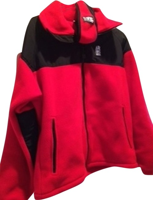 Preload https://item1.tradesy.com/images/red-black-fleece-jacket-with-matching-head-warmer-activewear-size-8-m-1961305-0-0.jpg?width=400&height=650