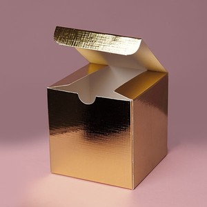 Gold Metallic Foil Tuck Top Gift Boxes