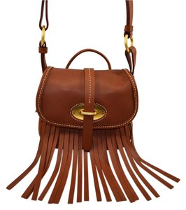 Dooney & Bourke Lulu Fringe Leather Small Fiona Cross Body Bag