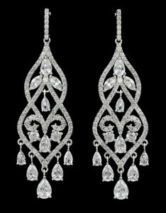 Aaa-quality Cubic Zirconia Chandilier Earrings
