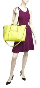 Longchamp Leather Large Yellow Tote in Lemon Yellow