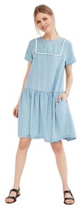 Urban Outfitters short dress Little White Lies Chambray Shift Dropwaist Denim on Tradesy