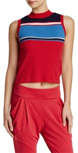 Free People People Crop Top Sport Red Combo