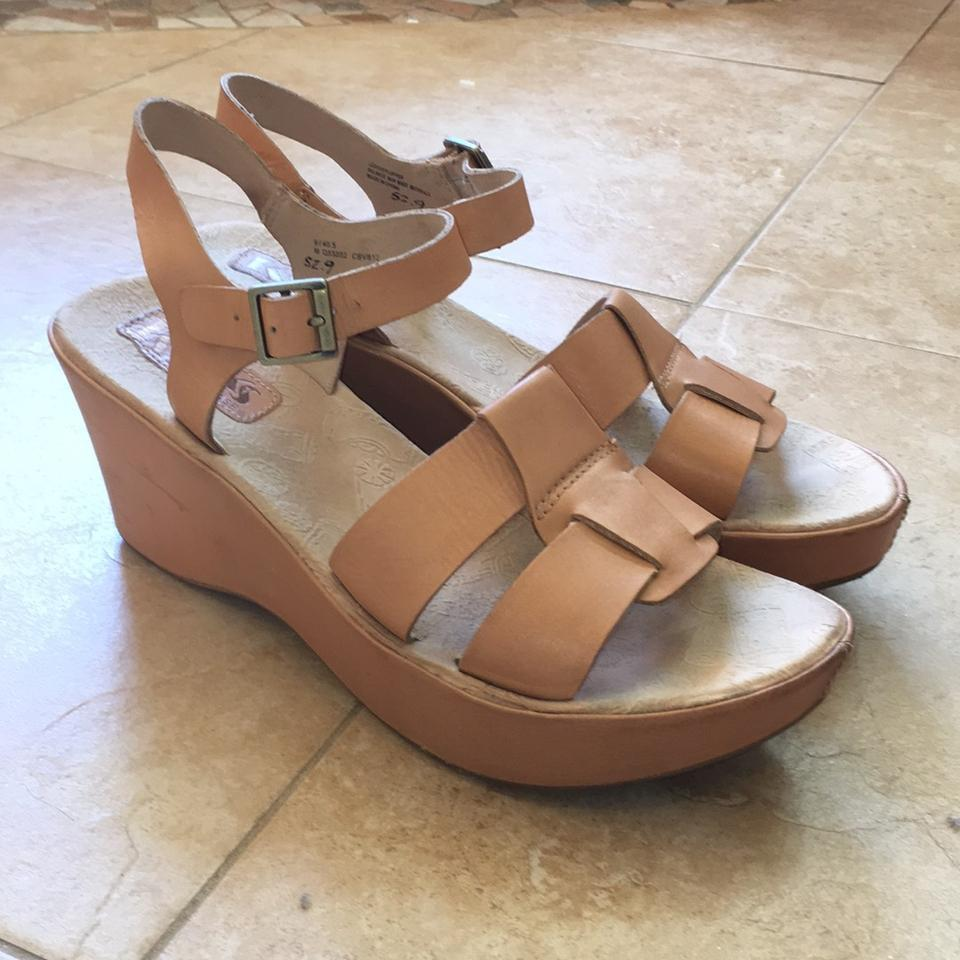 83846c6bee Kork-Ease Natural Double Strap Wedge Sandals Size US 9 Regular (M, B ...