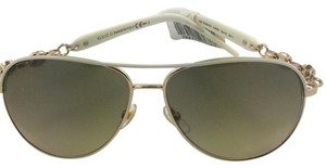 GUCCI SUNGLASSES GG 4239 NS WHITE GOLD BROWN GRADIENT COL.OJKED Gucci GG 4239 NS, Color 0JKED SIZE 58-13