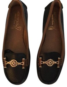 Aerosoles Black/saddle Flats