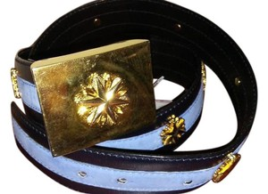 Escada Escada black blue belt with golden buckle