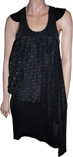 Preload https://item3.tradesy.com/images/karl-lagerfeld-grey-silk-unique-high-low-short-casual-dress-size-6-s-1961357-0-0.jpg?width=400&height=650