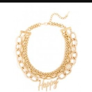 BaubleBar BAUBLEBAR GOLD STATEMENT HELLO TEXT CHAIN NECKLACE