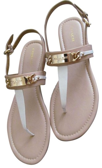 Coach Caterine Chalk Beechwood Sandals On Sale 30 Off