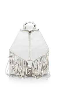 Rebecca Minkoff Leather Silver Julian Backpack
