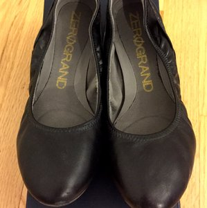 Cole Haan Zerogrand Stagedoor Black Flats
