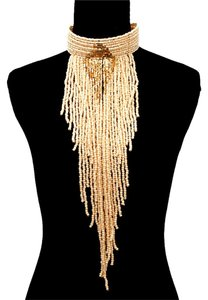 Sydney Soaray Glass Beaded Statement Fringe Choker