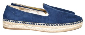 Prada Espadrilles Platform Slip On BLUE SUEDE Athletic