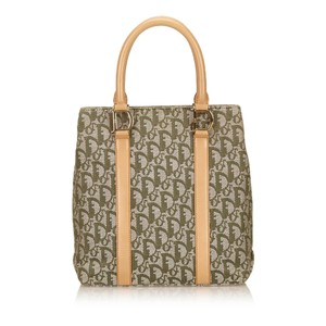 Dior Brown Fabric Gray Tote