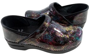 Dansko Patent Leather Removable Footbed Multi-color Mules