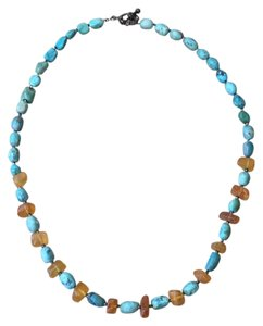Other Turquoise And Quartz Bead Necklace