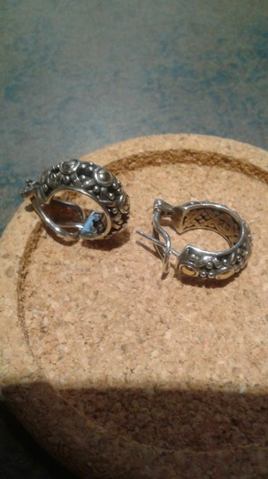 John Hardy John Hardy 18k and SS small hoop earrings from Dot collection