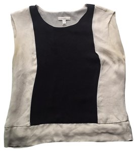 J.Crew Top Colorblock - black and cream