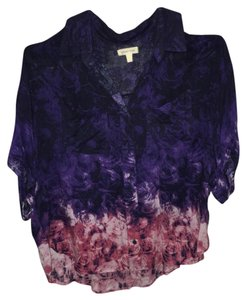 Urban Outfitters Button Down Shirt Purple