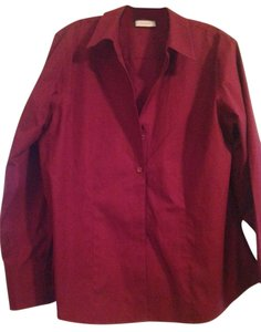 Chico's Button Down Shirt Cranberry