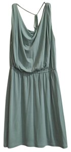 Halston short dress Green Mint Drapes Goddess on Tradesy