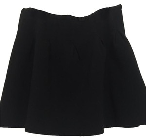 Gap Scuba Neoprene Circle A-line Mini Skirt Black