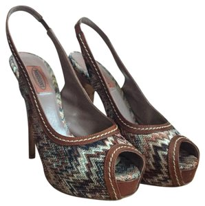 Missoni Brown Platforms