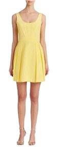 Shoshanna short dress Lemon on Tradesy