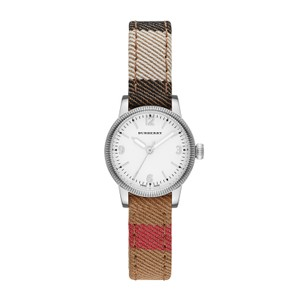 Burberry Burberry Women's The Utilitarian Canvas Leather Check Watch BU7863