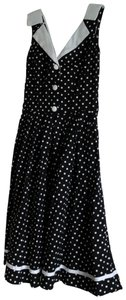 Hell Bunny short dress Black & white polka dot Date Night Swing on Tradesy