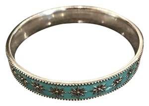 Tiffany & Co. Tiffany Blue Enamel Daisy Bracelet Bangle
