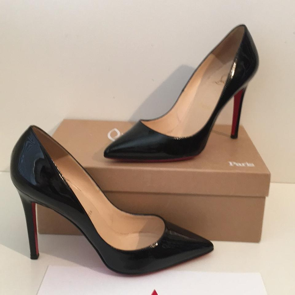 79b38494c39c Christian Louboutin Pigalle 100 Black Patent Leather Pumps Size US 8 Regular  (M