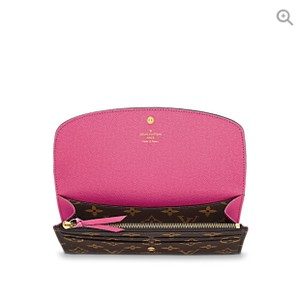 Louis Vuitton Brand New Hot Pink EMILIE WALLET