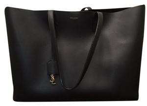 444671dee1a Saint Laurent Ysl Largeblacktote Leather Fashion Tote in Black