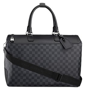 Louis Vuitton Damier Graphite Greenwich Keepall Travel Monogram Black Leather Canvas Carryall Neo Cabas Luggage Graphite Grey Travel Bag
