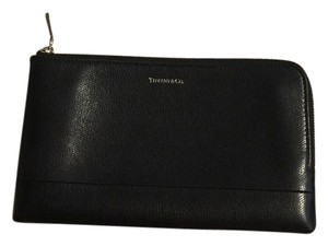 Tiffany & Co. Textured Leather Zip Pouch Wallet