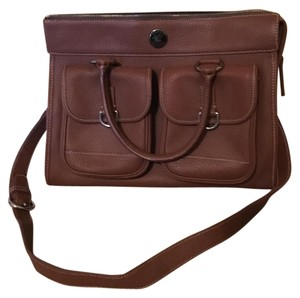 Dooney & Bourke Pebbled Leather Textured Tote in luggage brown/tan