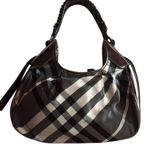 Burberry Chain Beat Check Hobo Bag