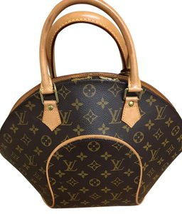 Louis Vuitton Paris Made In USA Leather Logo Tote in Ellipse LV Monogram Tote Bag