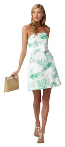 Lilly Pulitzer short dress White and green Bridal Classic Preppy Pattern on Tradesy