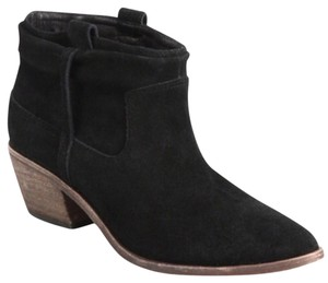 Joie Suede Western Black Boots