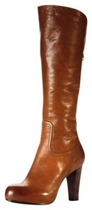 Frye Leather Knee High Boot Brown Tan/Cognac Boots