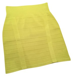 Rock & Republic Mini Skirt Lime Green