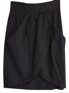 Tibi Skirt Black pinstripe