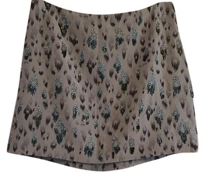 Rebecca Taylor Mini Skirt Grayish Purple