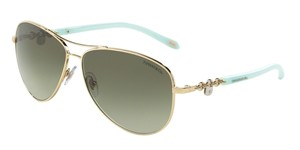 Tiffany & Co. Tiffany & Co 3034 Aviator Sunglasses TF3034 Gold 60213M Authentic