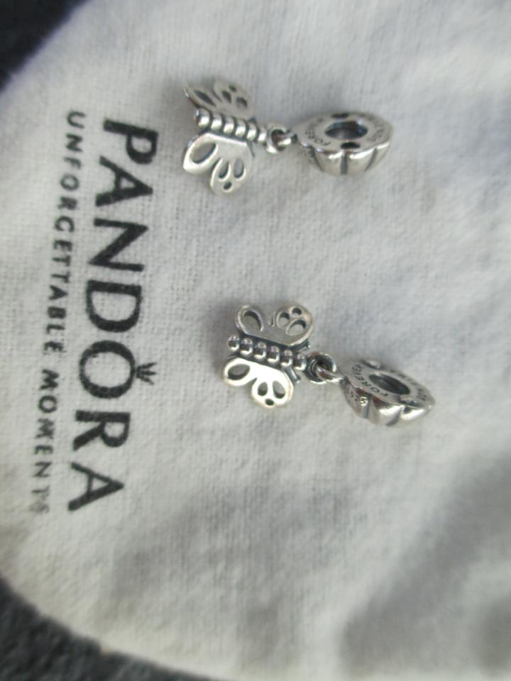 5627d9673 PANDORA Pandora Silver BEST FRIENDS FOREVER Butterfly Dangle 790531 Image  5. 123456