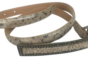 Leatherock Snakeskin Watersnake Skinny Belt