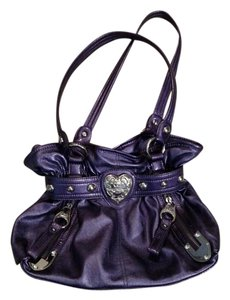Kathy Van Zeeland Monogram Chic Satchel in bright purple